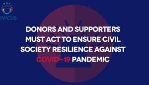 Carta abierta: Los donantes y colaboradores deben actuar para asegurar la resiliencia de la sociedad civil frente a la pandemia del COVID-19